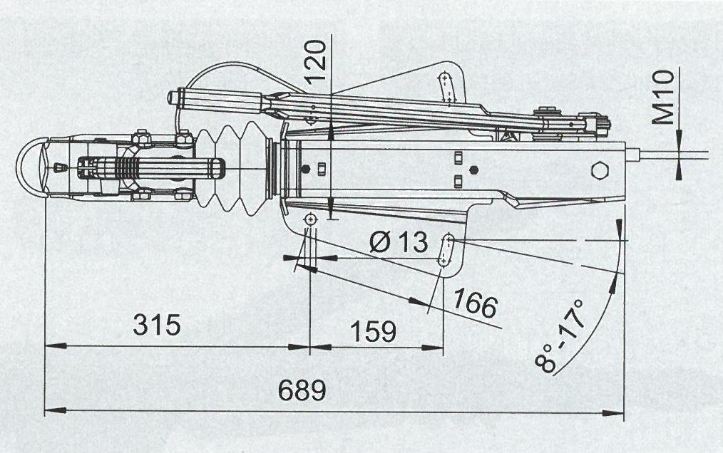 PLAN COMMANDE DE FREIN ALKO 251S